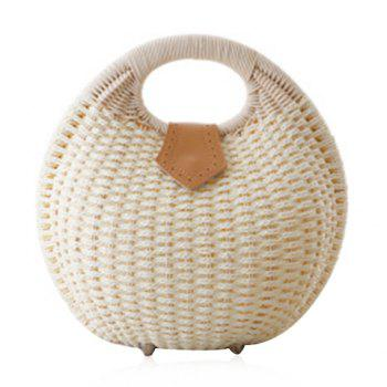 Cute Weaving and Round Shape Design Women's Tote Bag