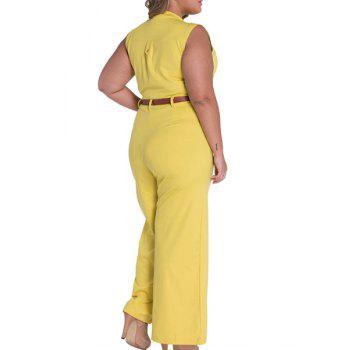 Elegant Women's Stand Collar Candy Color Sleeveless Jumpsuit - M M