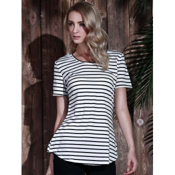 Tunic Striped T-Shirt - STRIPE XL
