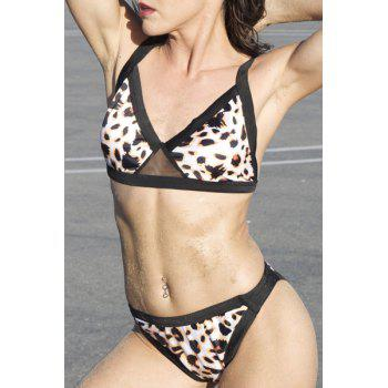 Sexy Leopard Push Up Bikini Set For Women - BLACK BLACK