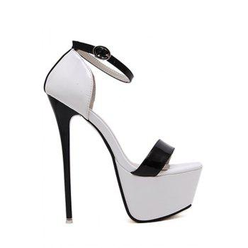 Sexy Platform and Color Block Design Sandals For Women