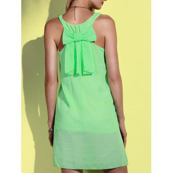 Bowknot Chiffon Mini Tank Dress