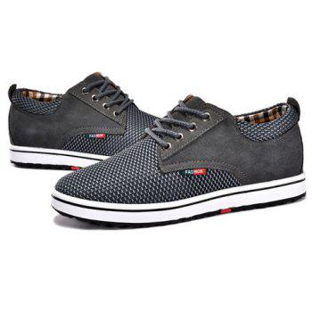 Casual Hidden Wedge and Lace-Up Design Sneakers For Men - GRAY 43