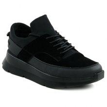 Stylish Black Colour and Splicing Design Men's Athletic Shoes