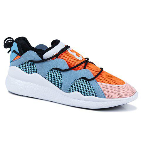 Fashionable Colour Block and Splicing Design Men's Athletic Shoes