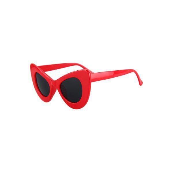 Fashion Solid Color Butterfly Shape Sunglasses For Women