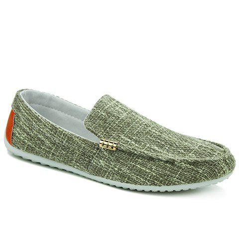 Trendy Colour Block and Metal Design Men's Casual Shoes - PEA GREEN 41