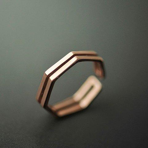 Polygon Cuff Ring - ROSE GOLD ONE-SIZE
