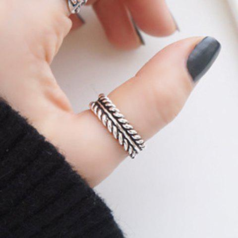 Chunky Cuff Ring - SILVER ONE-SIZE