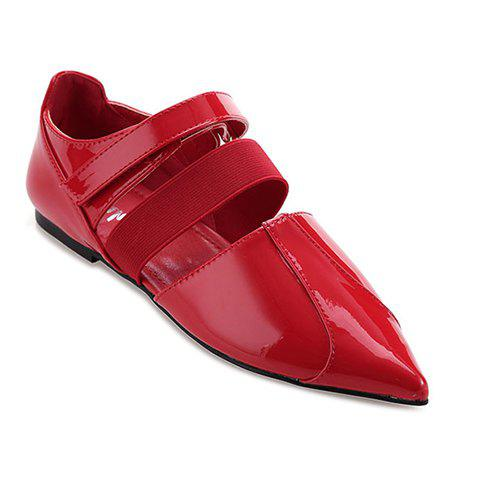 Stylish Elastic Band and  Design Women's Flat Shoes - RED 38