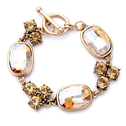 Vintage Rhinestone Faux Gem Bracelet For Women