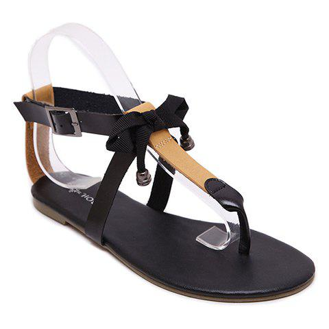 Concise Colour Block and Flip Flop Design Sandals For Women