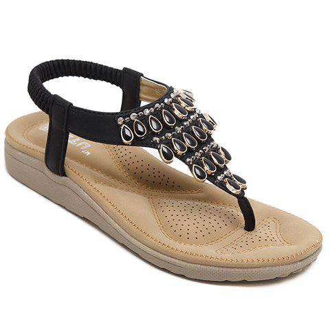 Casual Flip Flop and Beading Design Women's Sandals