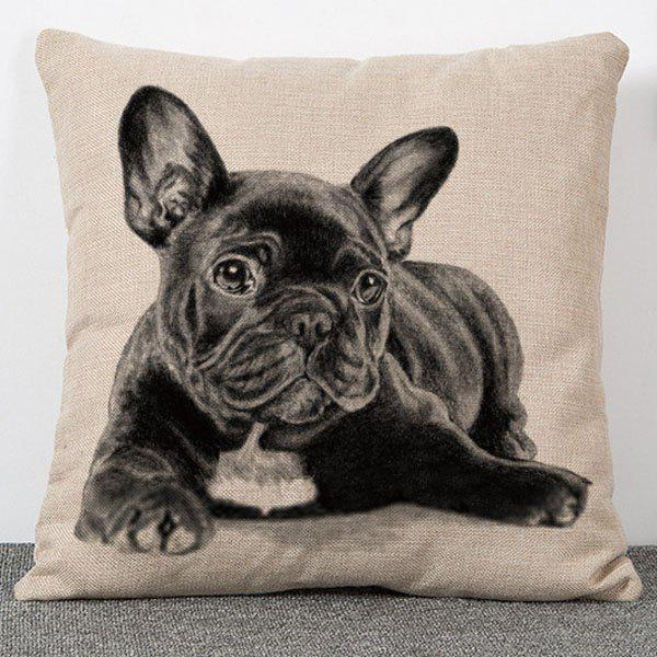 Hot Sale Dog Pattern Flax Pillow Case(Without Pillow Inner) - COLORMIX