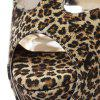 Fashionable Platform and Leopard Printed Design Sandals For Women - LIGHT BROWN 36