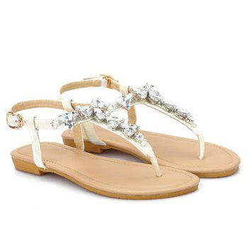 Sweet Rhinestones and Flip Flops Design Sandals For Women