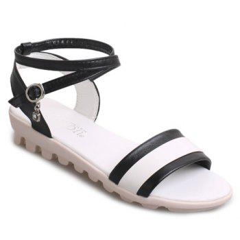 Casual Color Block and Cross-Strap Design Women's Sandals