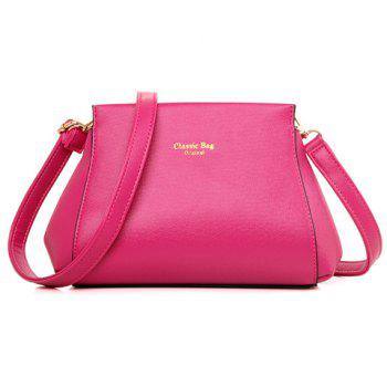Elegant Zipper and Solid Color Design Crossbody Bag For Women