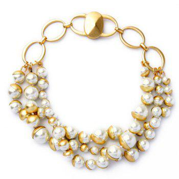 Graceful Multilayered Faux Pearl Necklace For Women