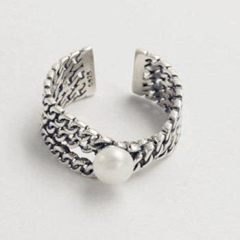 Chunky Faux Pearl Cuff Ring