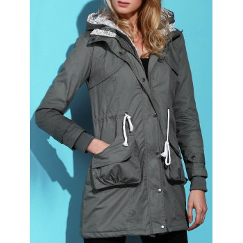 Women's Chic Long Sleeve Solid Color Pocket Coat