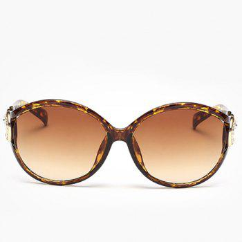 Chic Rhinestone and Cloud Shape Decorated Women's Flecky Sunglasses -  YELLOW