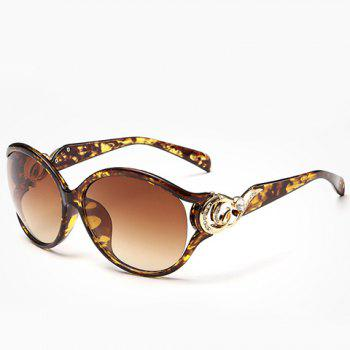 Chic Rhinestone and Cloud Shape Decorated Women's Flecky Sunglasses