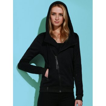 Casual Style Solid Color Long Sleeves Women's Hoodie