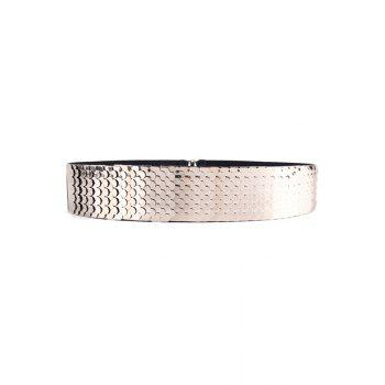 Stylish Fish Scale Sheetmetal Elastic Waistband For Women