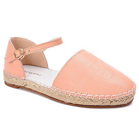 Sweet PU Leather and Ankle-Wrap Design Sandals For Women - PINK 38