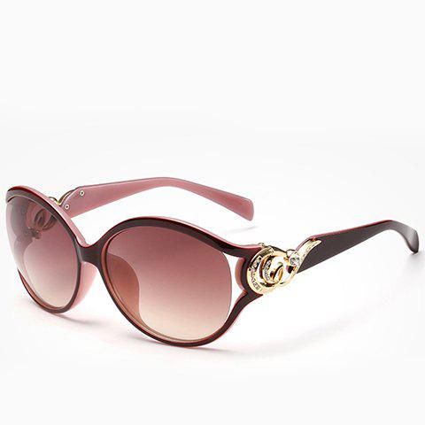 Chic Rhinestone and Cloud Shape Decorated Women's Two Color Sunglasses - PINK