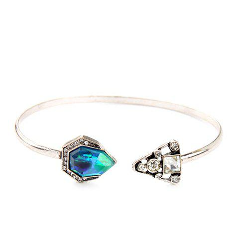 Chic Faux Crystal Geometric Bracelet For Women - SILVER