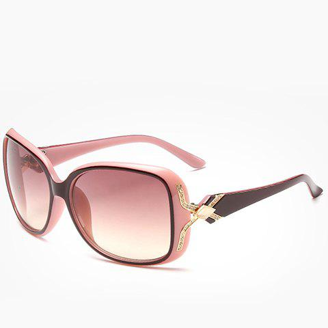 Chic Faux Gem and Letter X Shape Embellished Women's Two Color Sunglasses - PINK