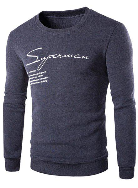 Hot Sale Round Neck Letters Pattern Rib Spliced Long Sleeve Men's Sweatshirt от Dresslily.com INT