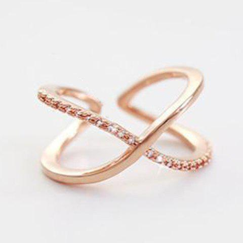 Cross Cuff Ring - ROSE GOLD ONE-SIZE
