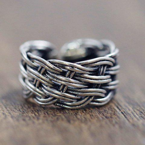 Chic Simple Style Chunky Cuff Ring For Women - SILVER ONE-SIZE
