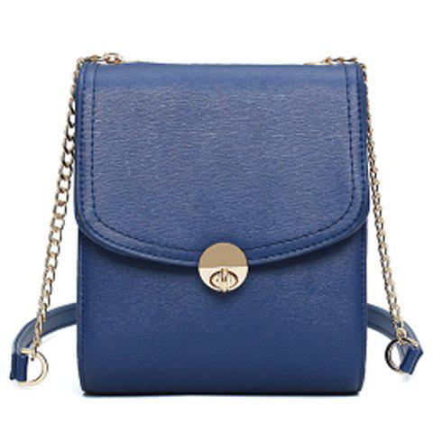 Simple Chains and Solid Color Design Women's Crossbody Bag - SAPPHIRE BLUE