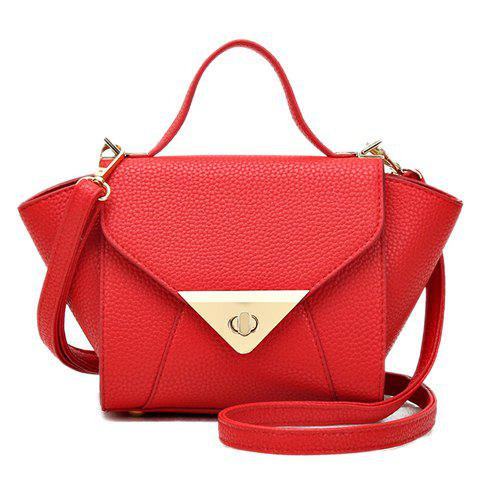 New Arrival PU Leather and Cover Design Tote Bag For Women - RED