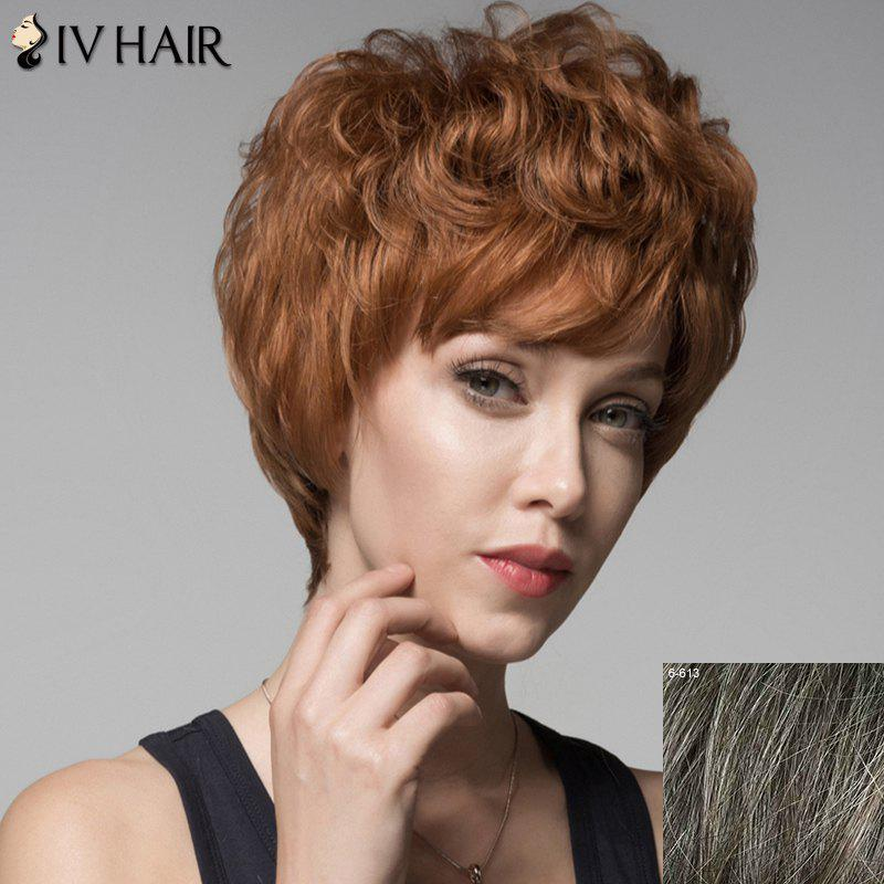 Skilful Curly Short Human Hair Side Bang Wig For Women