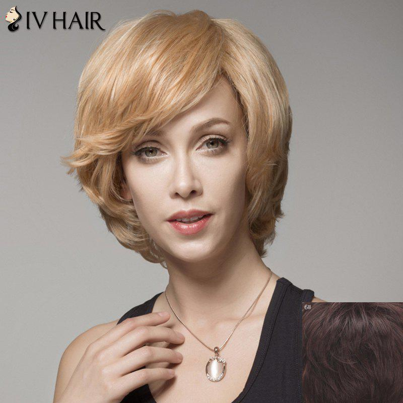 Skilful Curly Human Hair Side Bang Wig For Women