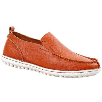 Trendy Solid Color and Slip-On Design Casual Shoes For Men - ORANGE 42