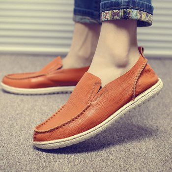 Trendy Solid Color and Slip-On Design Casual Shoes For Men - ORANGE ORANGE