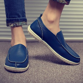 Trendy Solid Color and Slip-On Design Casual Shoes For Men - 41 41