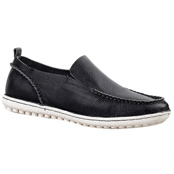 Trendy Solid Color and Slip-On Design Casual Shoes For Men - BLACK 44