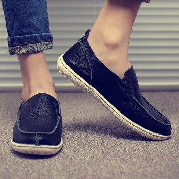 Trendy Solid Color and Slip-On Design Casual Shoes For Men - 44 44