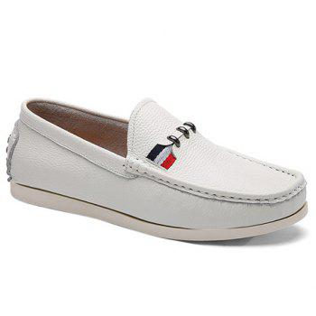 Simple Slip-On and Solid Color Design Casual Shoes For Men - IVORY WHITE 41