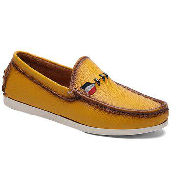 Simple Slip-On and Solid Color Design Casual Shoes For Men - YELLOW 42