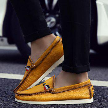 Simple Slip-On and Solid Color Design Casual Shoes For Men - 42 42