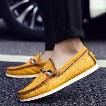Simple Slip-On and Solid Color Design Casual Shoes For Men - 41 41