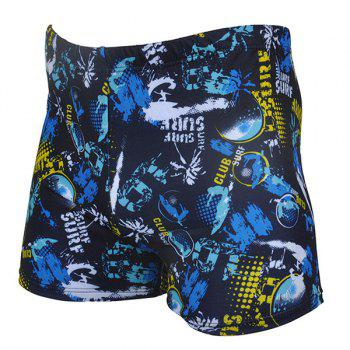 Buy Quick-drying Waterproof Printing Men's Boxers Swimming Trunks COLORMIX